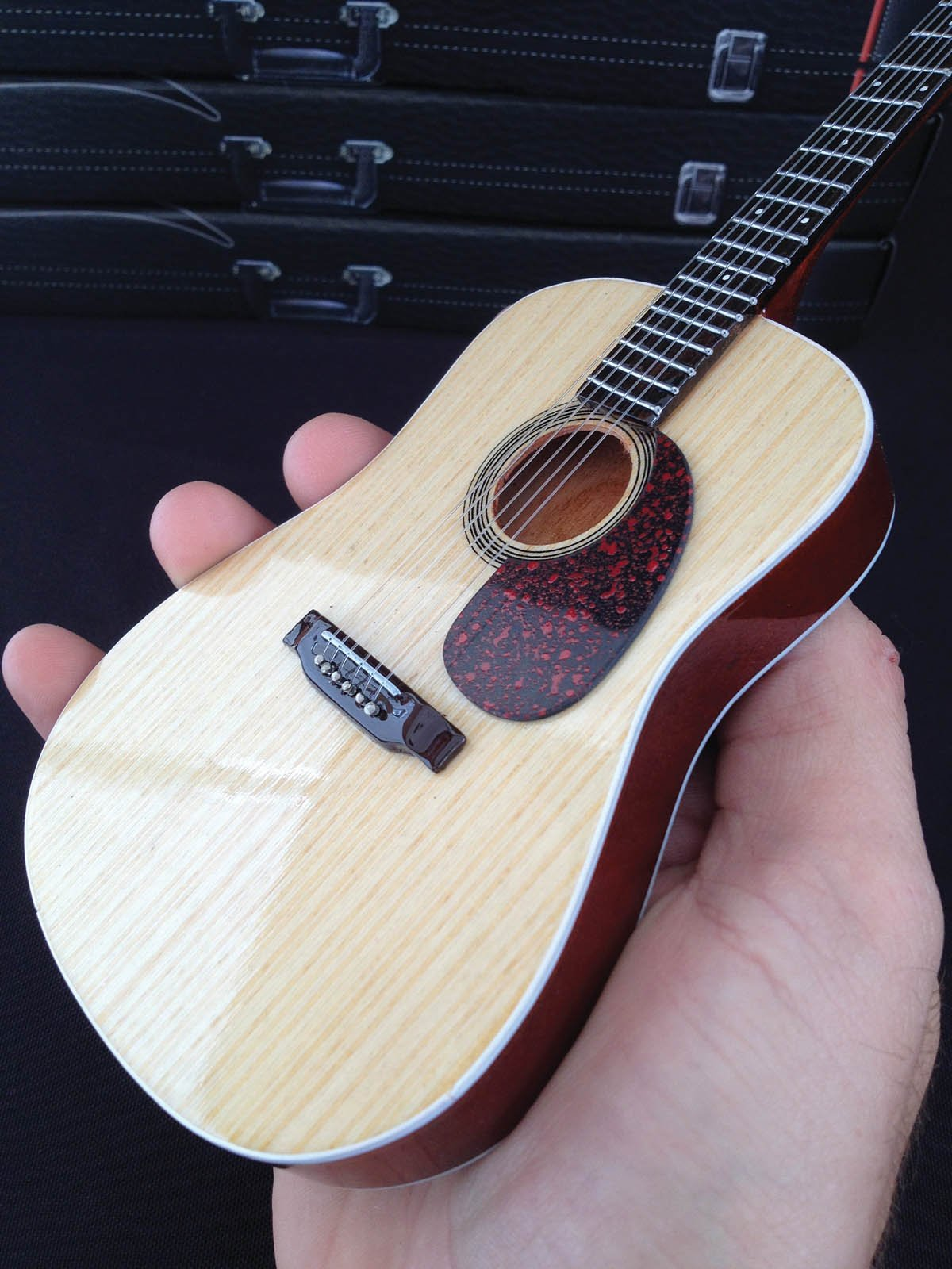 Axe Heaven AC-001 10-Inch Classic Natural Finish Acoustic Miniature Guitar Replica Collectible, Rosewood Finish Back by AXE HEAVEN