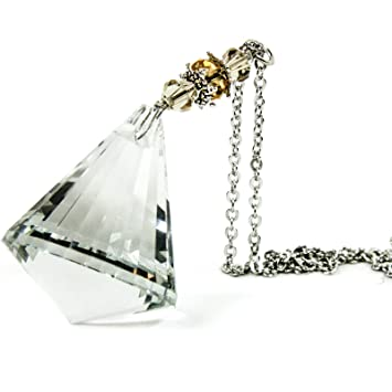Crystal Bling Gem Cone Mirror Car Charm Hanger