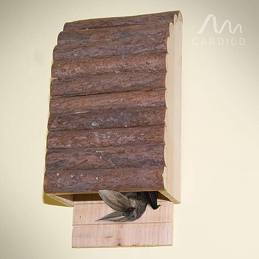 Gardigo 90536 - Casa para Murciélagos; Colores de Madera Natura; Hotel Casitas Nido para Murciélago
