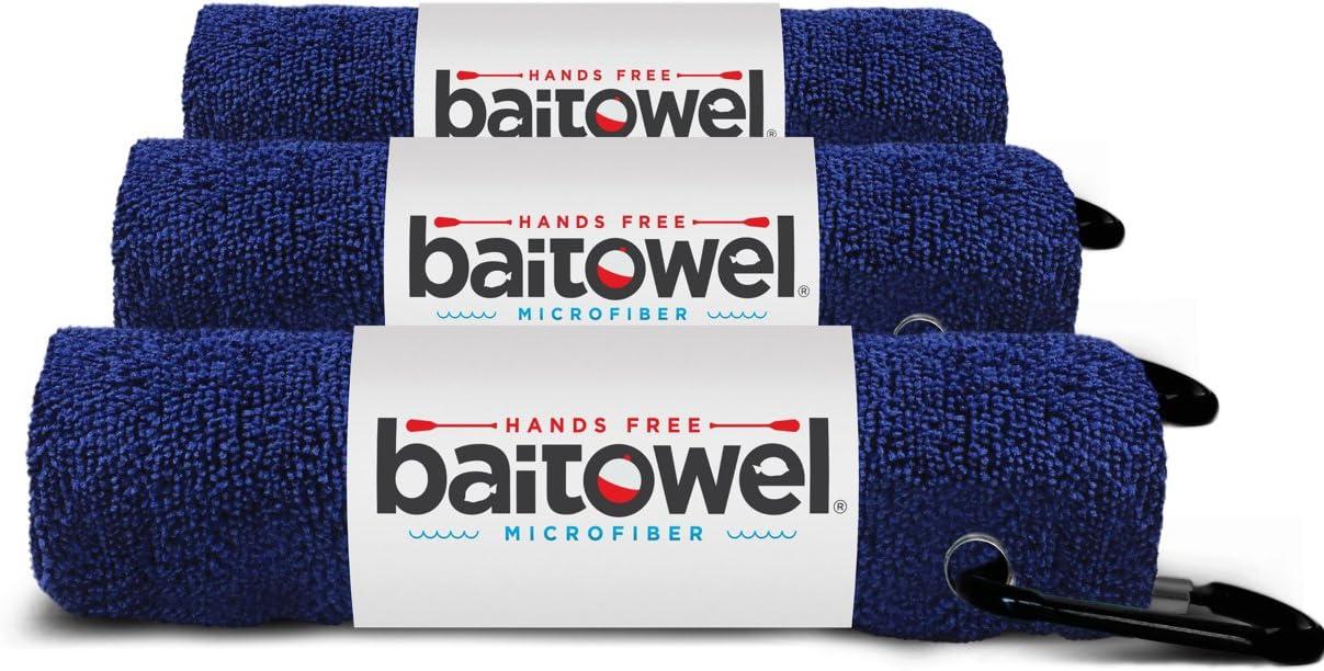 Hands Free Microfiber Bait Towel (Navy Blue)(3 Pack)
