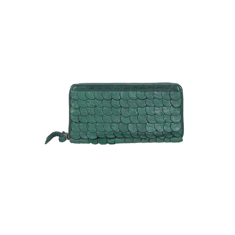 Cowboysbag Yarm bottle green, Langbörse mit Lederschuppen grün