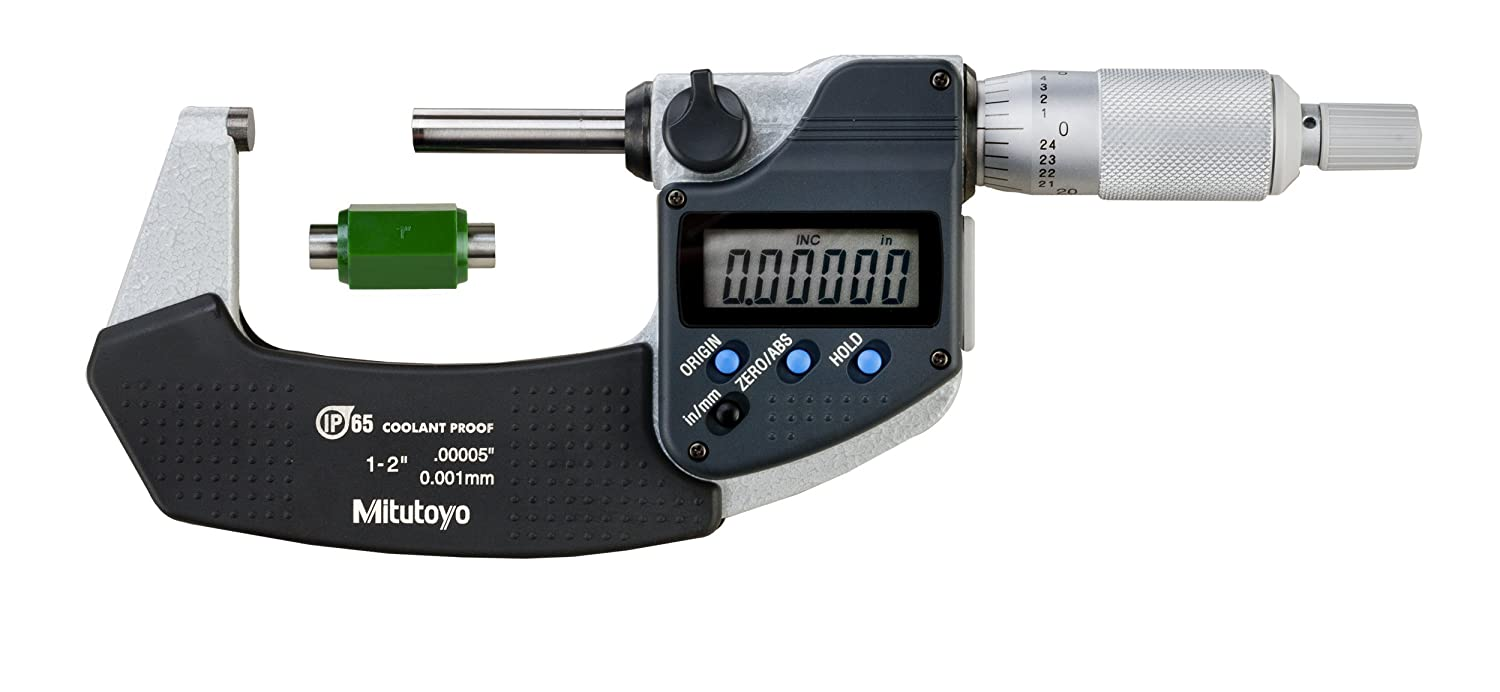 "Electronic Digital Micrometer,1 to 2/"" MITUTOYO 293-345-30"