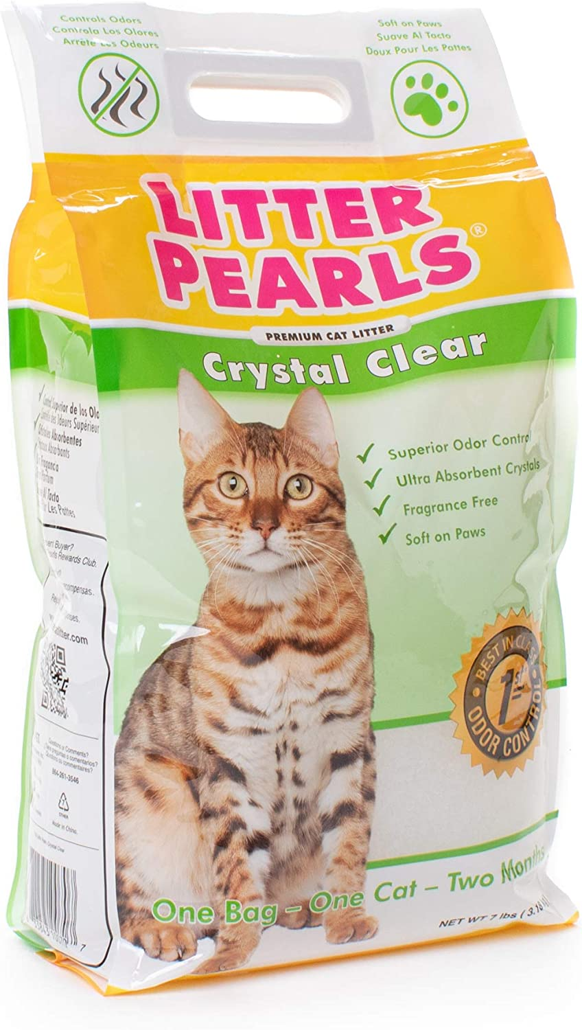 Ultra Pet Cat Litter Pearls Micro Crystals 7-Pound Bag