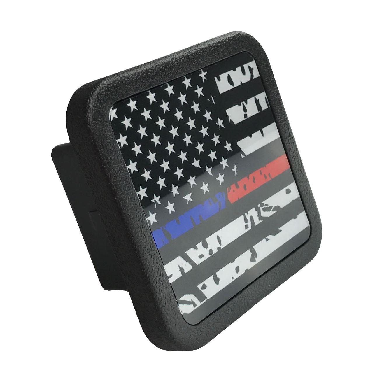 USA US American Flag Trailer Hitch Cover tube Plug Insert (Fits 2'' Receivers) by Free exercise