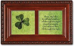 "Guardian Angel Petite Woodgrain Music Box Plays ""Irish Lullaby"""