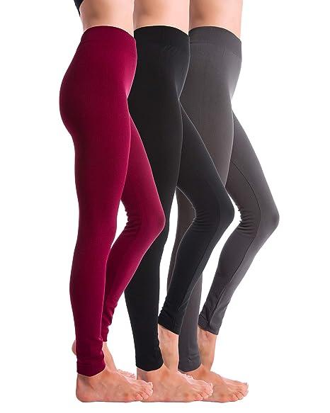 e20ec3aa4 Homma 3-Pack Fleece Lined Thick Brushed Leggings (XL-XXL