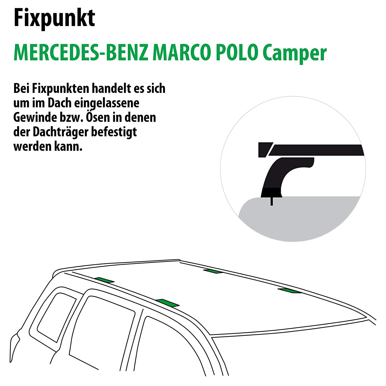 Rameder Juego Completo, Baca Wingbar para Mercedes-Benz Vito ...