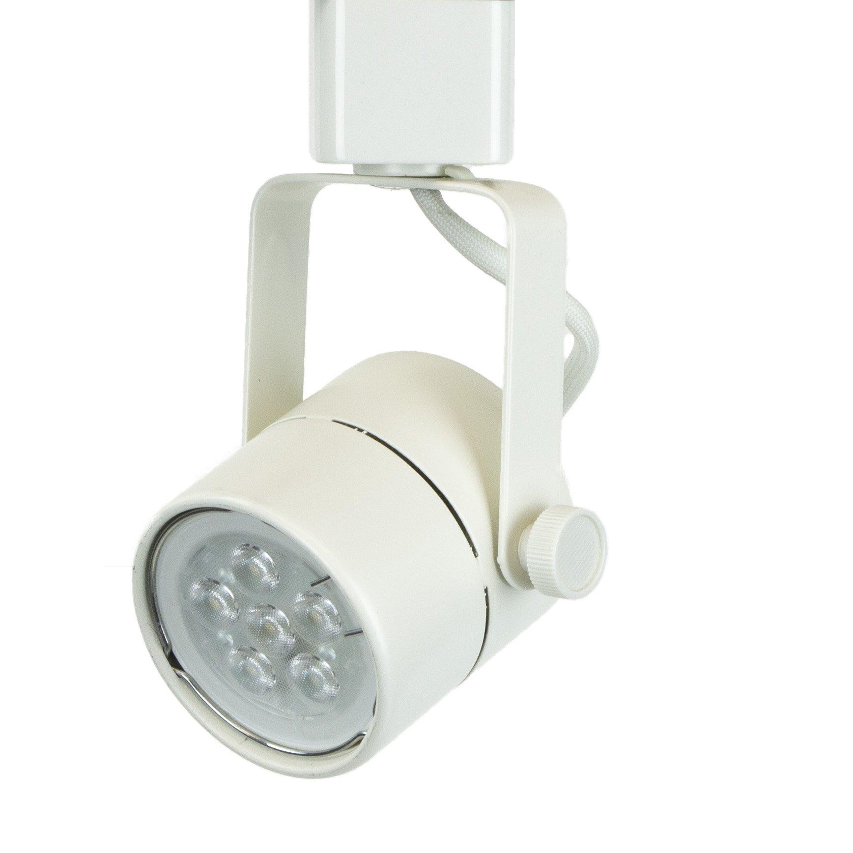 Direct-Lighting H System Daylight White 6000K GU10 LED Track Lighting Head - 7.5W LED Bulb 50154L White