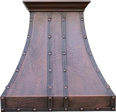 SINDA Rivets campana de cobre para horno con soplador centrífugo de alto flujo de aire, ventilación de acero inoxidable con forro y motor interno, filtro de deflector: Amazon.es: Grandes electrodomésticos