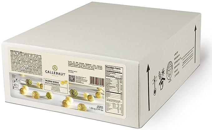 Callebaut White Truffle Shells - Conchas / Bolas Huecas Trufas de Chocolate Blanco (504 piezas
