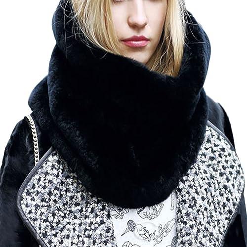 DELEY Autunno Invernali Donna Ladies Morbido Caldo Elegante Cappotto Wrap Sciarpa di Pelliccia Finta...