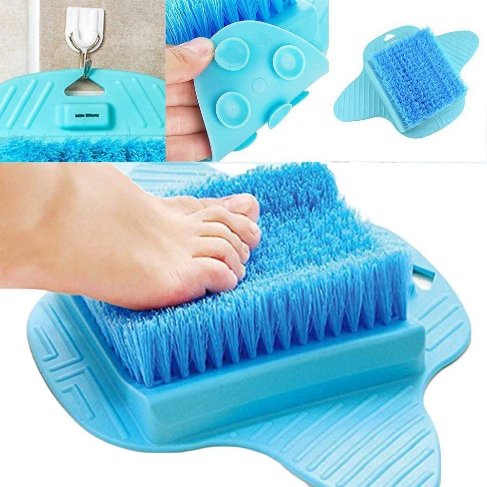 Mosie Fuß Scrubber Fuß, Bürste Borsten stimulieren Deep Clean harte Dead Raue Trockene Haut Hornhaut Peeling Fuß von Scrub Massagegerät Spa für Dusche Boden (blau)