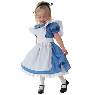 Deluxe Toddler Alice in Wonderland Costume Alice in Wonderland Dress for Girls: Clothing