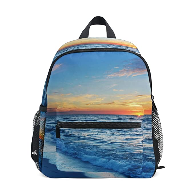 bad4c59d50 Image Unavailable. Image not available for. Color  LORVIES Blue Sea Water  Mini Kids Backpack Pre-School Kindergarten Toddler Bag