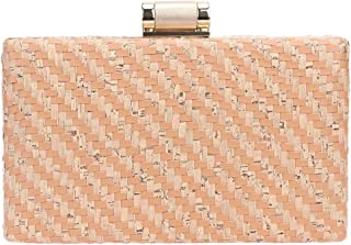 Bonjanvye PU Leather Weave Women's Clutches and Evening Bags