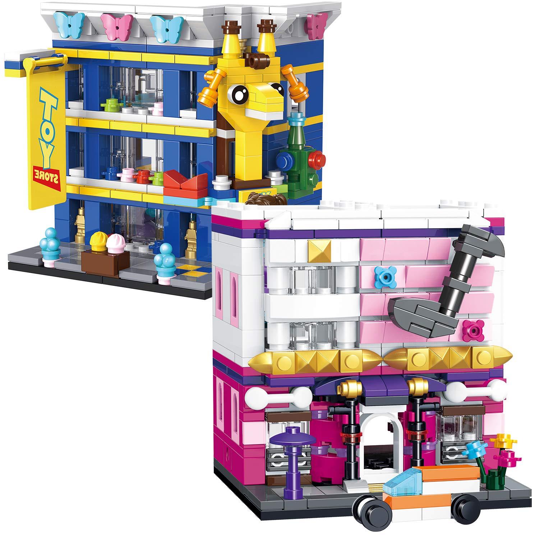 Youchi Creator Mini Streets Building Toy kit Compatible Most Major Brands Building Bricks PLS17-18