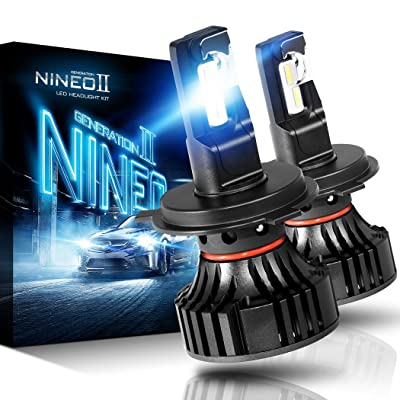 NINEO H4 9003 LED Headlight Bulbs | CREE Chips 12000Lm 6500K Extremely Bright All-in-One Conversion Kit | 360 Degree Adjustable Beam Angle: Automotive
