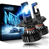 NINEO H4 9003 LED Headlight Bulbs | CREE Chips 12000Lm 6500K Extremely Bright All-in-One Conversion Kit | 360 Degree…
