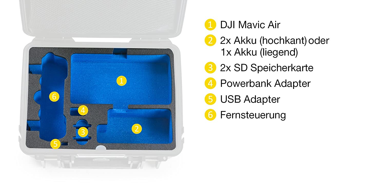 B/&W outdoor.cases type 1000 with DJI Mavic Air Inlay The Original