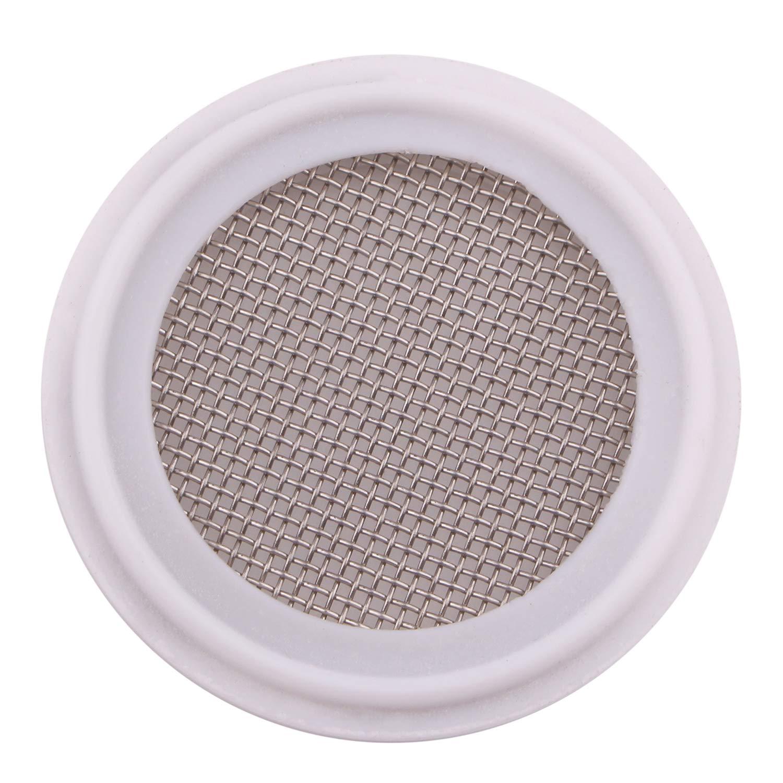 DERNORD 1.5'' PTFE (Teflon) Sanitary Gasket w/Stainless Screen - Tri Clamp Clover 20 Mesh (20 Mesh) by DERNORD