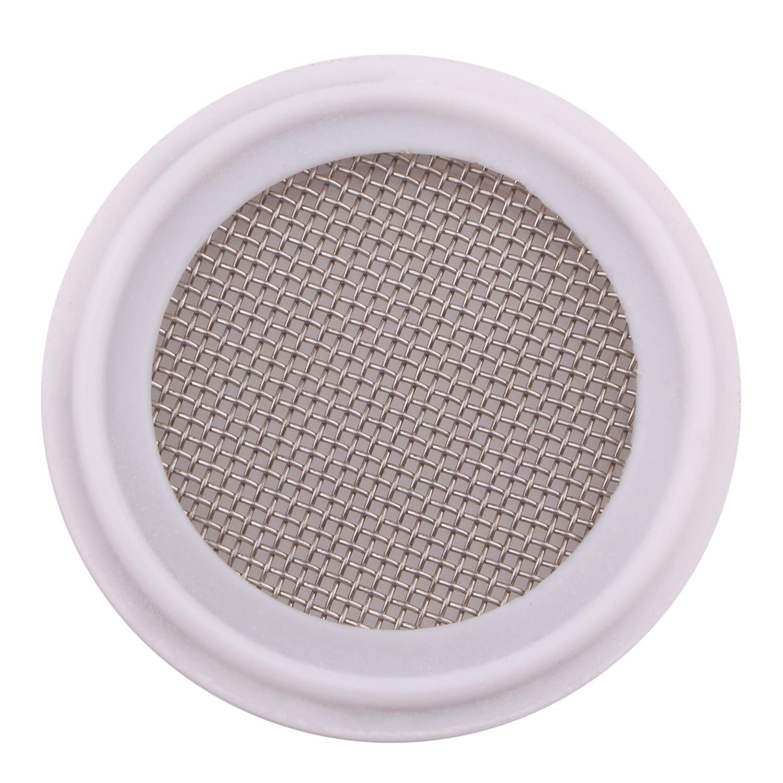 DERNORD 1.5'' PTFE (Teflon) Sanitary Gasket w/Stainless Screen - Tri Clamp Clover 20 Mesh (20 Mesh)