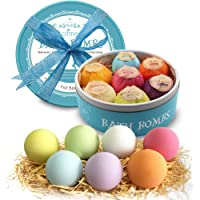 Anjou Bath Bombs Gift Set, Upgraded 6 x 4.0 oz Vegan Natural Essential Oils /& Dry Flowers, lush Fizzy Spa Moisturizes Dry Skin, Bubble Baths, Best Gift Kit Ideas for Girlfriends, Women, Moms