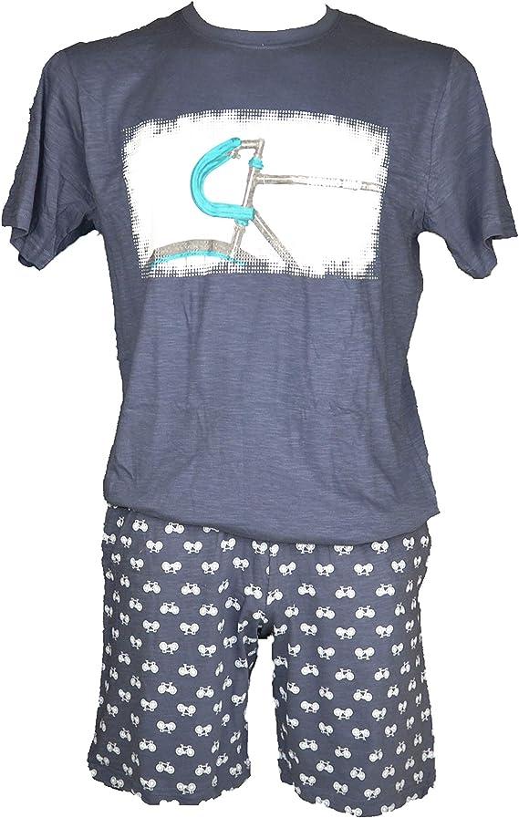 ANTONIO MIRO - Pijama Chico Hombre Color: Azul Talla: XX ...