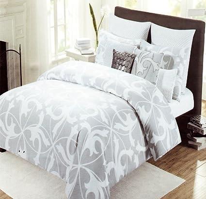 set home silver comforter grey tahari gray queen amazon dp pieces cotton com