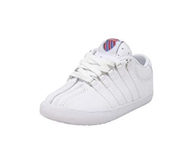 2a5aaad90fa3 Image Unavailable. Image not available for. Color  20100 WIDE Width Classic  Sneakers Infant Toddler White Tennis Shoes ...