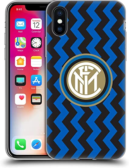 Head Case Designs Ufficiale Inter Milan in Casa 2020/21 Kit Crest Cover in Morbido Gel Compatibile con Apple iPhone X/iPhone XS