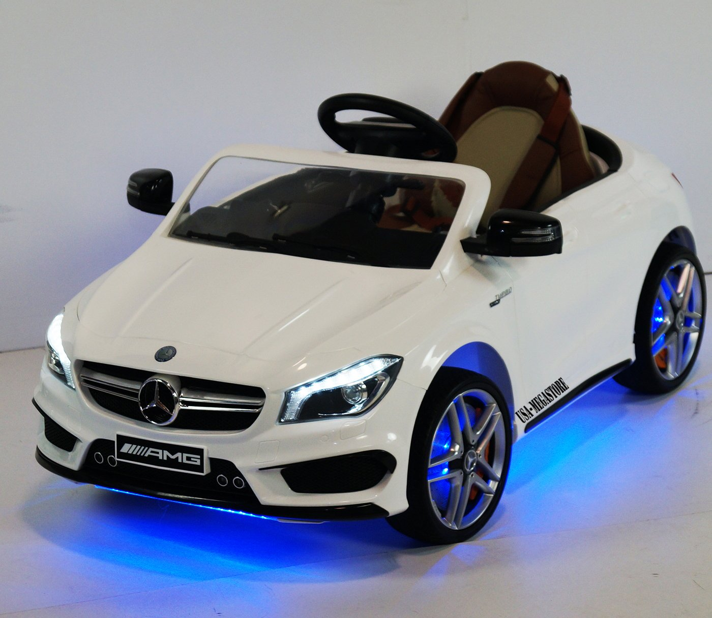 Amazon.com: sx1538 white Mercedes CLA45-AMG White Ride-on Car for ...