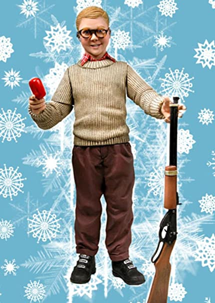 95 a christmas story ralphie with red ryder bb gun talking action figure