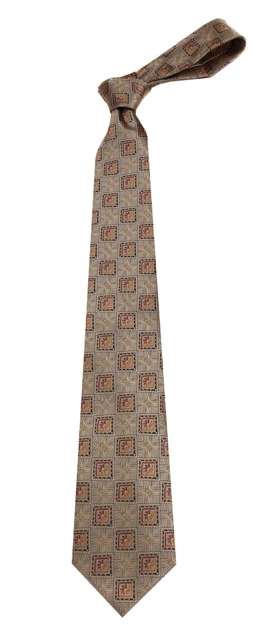 Boys Youth Gold Pattern Designer Necktie Ties