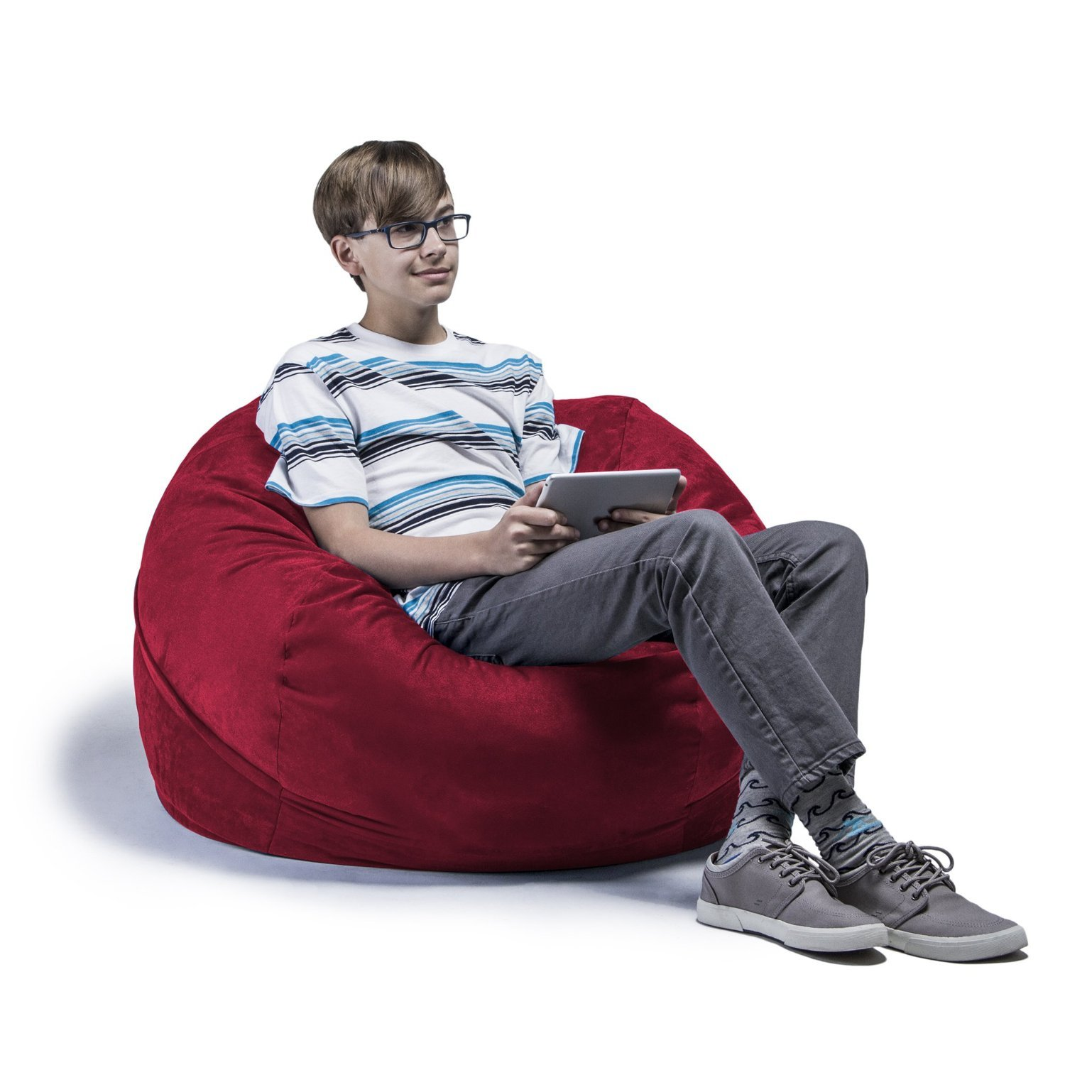 Jaxx Saxx 3' Bean Bag Chair, Cinnabar