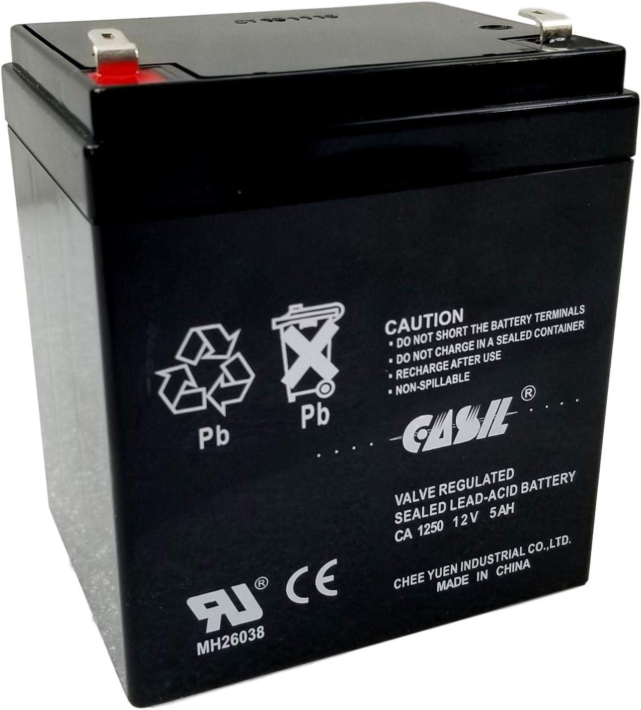 Casil Genuine CA1240 12V 4Ah SLA Upgrade to Genuine CA1250 12v 5ah Alarm Battery