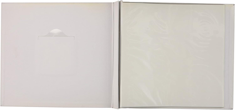 Wei/ß MBI 8025-19 Postgebundenes Album aus Stoff 30,5 x 30,5 cm