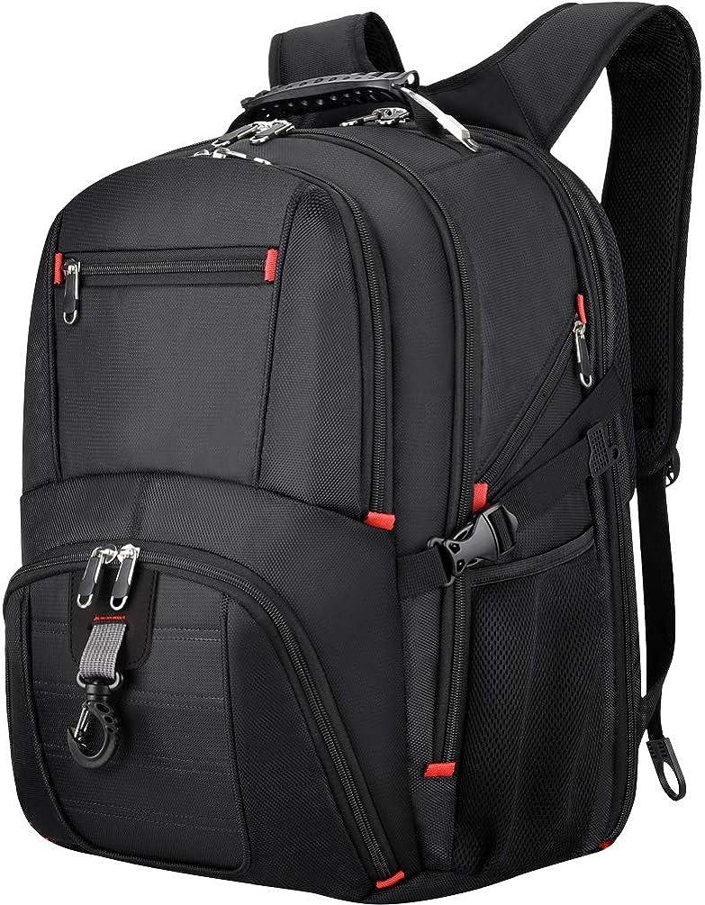 VBG VBIGER Travel Laptop Backpack for Men 17.3 inch Extra Large Laptop Backpack 45L Business Laptop Backpack Waterproof Casual Backpacks with USB Charging Port