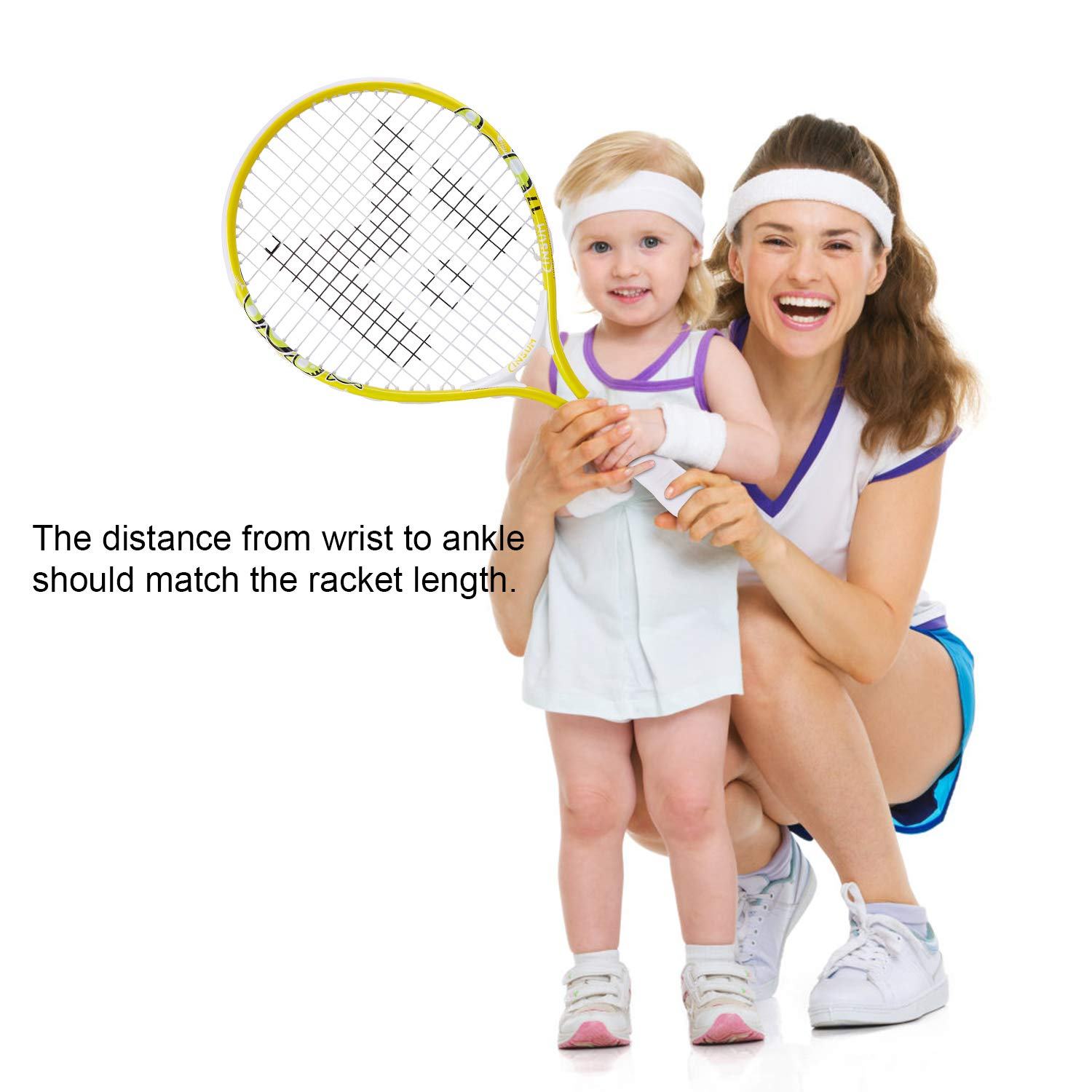"""Insum Junior Tennis Racquet of Childs Kids Starter Toddlers Tennis Racket 17-25/"""" Ages 2 to10 with Shoulder Strap Bag and brochure"""