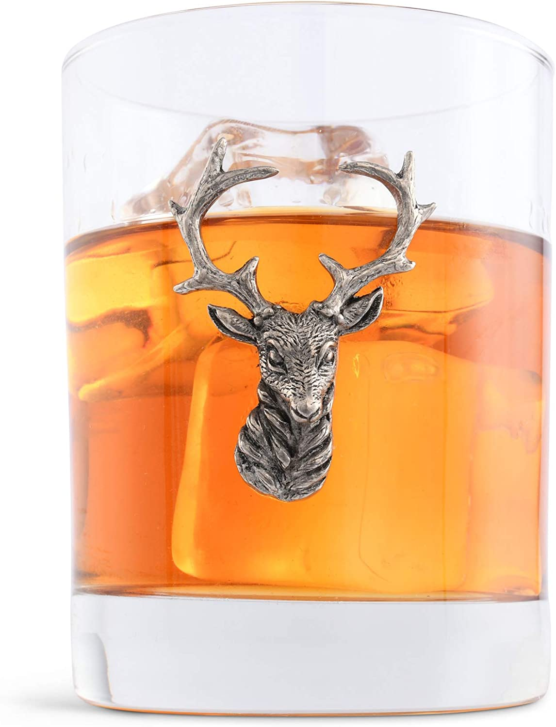 Stunning pewterware Stag/'s Head 12oz whisky glasses