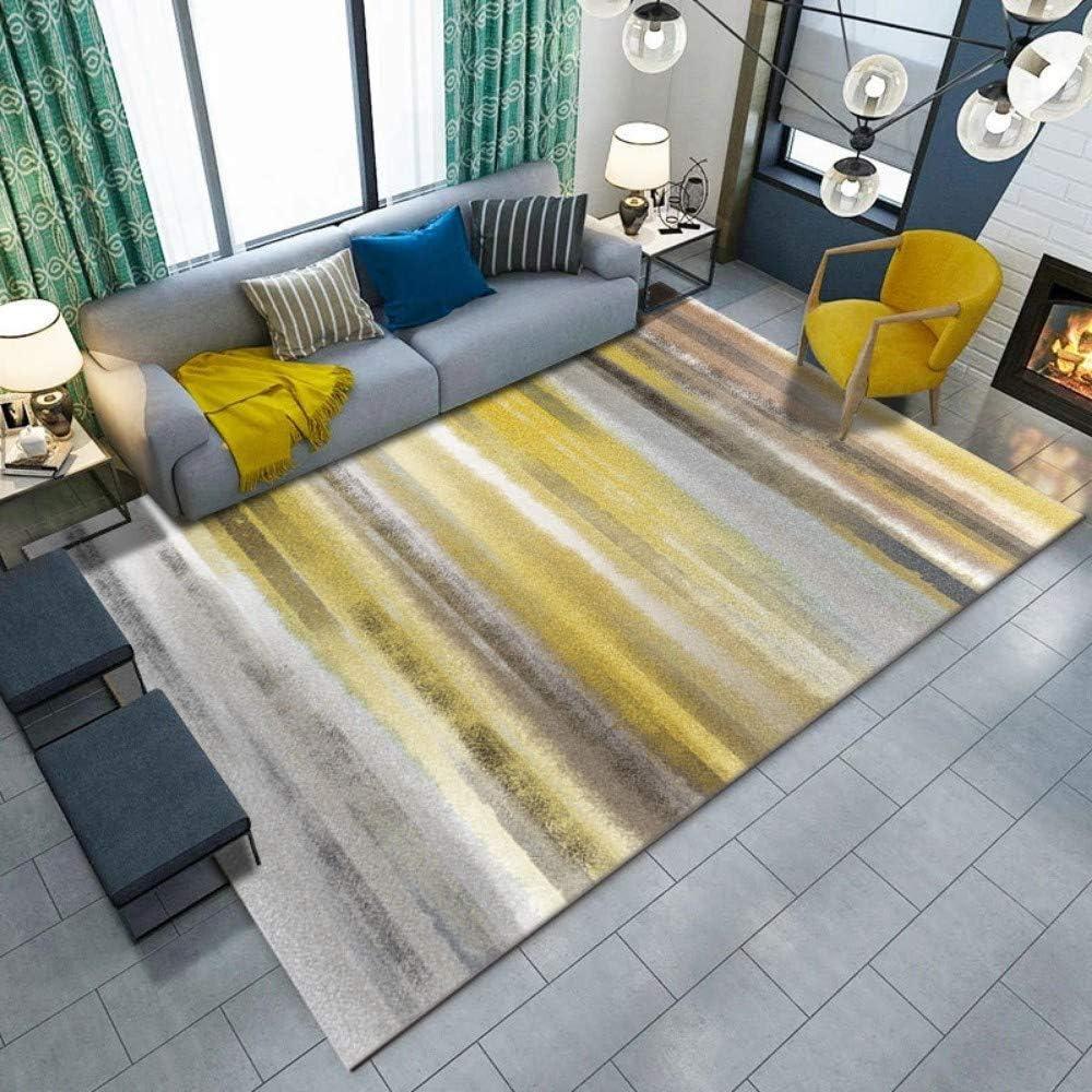 Amazon.com: Home Modern Area Rug Living Room Yellow Gray Printing