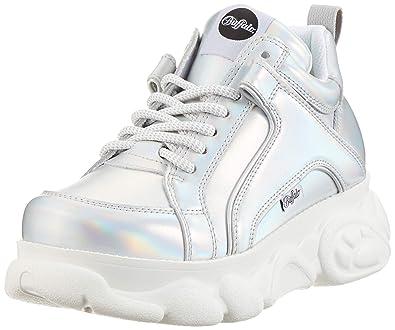 wholesale dealer c4a40 58c9a Buffalo 1630123 Damen Sneaker aus Lederimitat markante ...