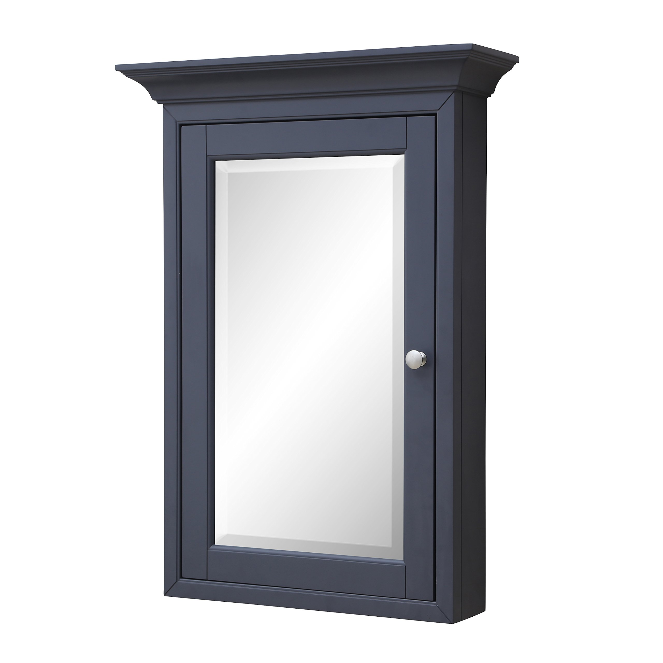 Newport Wall-Mounted Medicine Cabinet (Charcoal Gray) by Kitchen Bath Collection