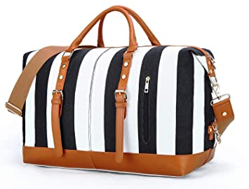 40383e5afc7 Image Unavailable. Image not available for. Color  Weekend Overnight Bag  for Women Ladies Canvas Travel ...
