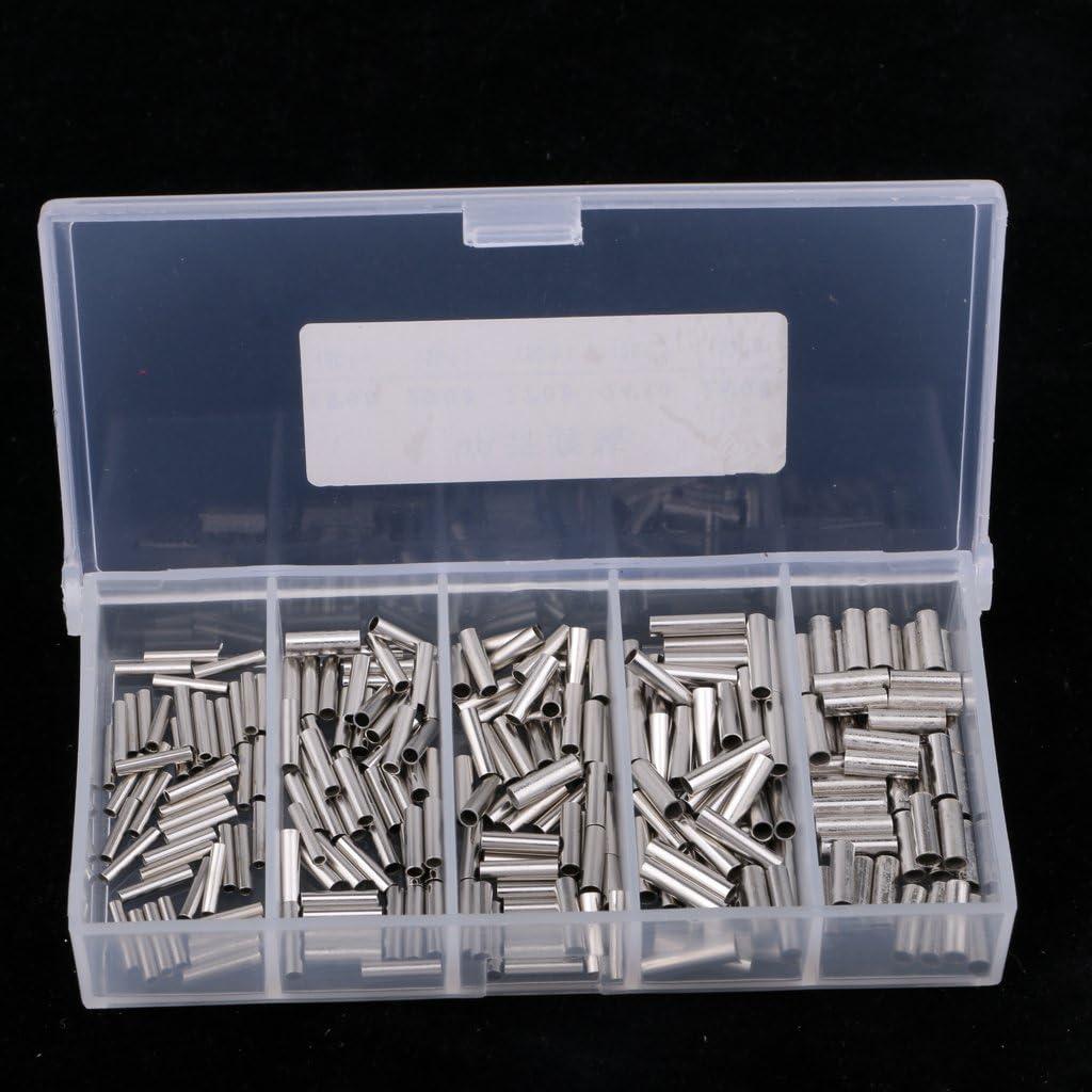 Injoyo 250 Pcs P/êche Unique Baril Sertir Manchons Connecteurs De P/êche Plates-Formes De P/êche