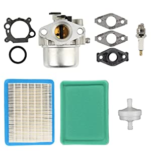Harbot 799866 Carburetor with Air Filter Spark Plug for Briggs& Stratton 794304 796707 790845 799871 Carb Craftsman Toro John Deere Lawn Mower