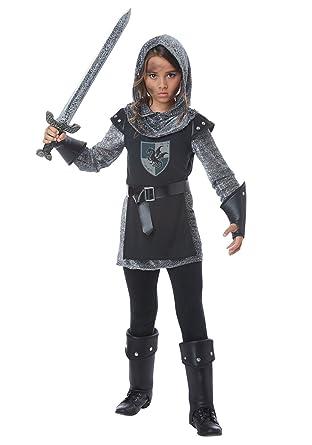 Amazon.com: Girls Noble Knight Costume: Clothing
