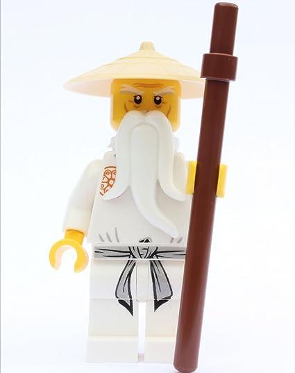 amazon com lego ninjago sensei wu leg variation white outfit
