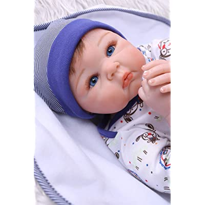 Zero Pam Reborn Toddler Dolls Boys Blue Eyes Lifelike Baby Dolls Newborn Preemie Boys with Outfit Real Life Reborn Baby Dolls Gifts for Boys: Toys & Games [5Bkhe0800736]