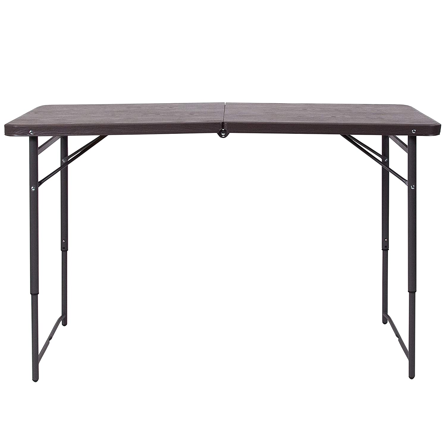 Flash Furniture DAD-LF-122Z-GG BRN 23.5×48.25 Plastic Folding Tables, Brown