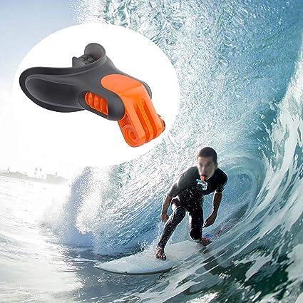 Nero Connettore Surf Braces Hanshin Surf Skating Bite Bocchure Supporto Floaty per GoPro Hero 7 6 5